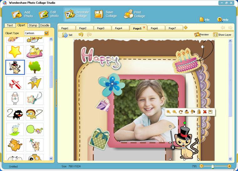 برنامج Wondershare Photo Collage Studio 4.2.11.20 البومات